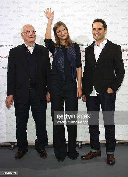 Director James Ivory actress Alexandra Maria Lara and actor Jorge Drexler attend 'The City Of Your Final Destination' Photocall during day 2 of the...