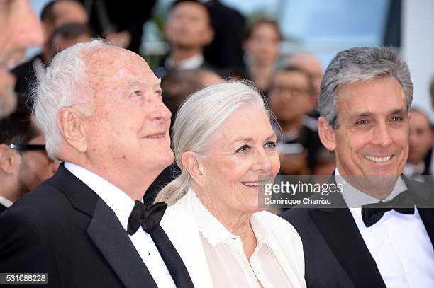 Director James Ivory actress Vanessa Redgrave and distributor Charles S Cohen attend the 'Money Monster' premiere during the 69th annual Cannes Film...