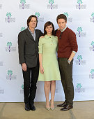 Director James Marsh actress Felicity Jones and actor Eddie Redmayne attend the screening of 'Theory of Everything' at the Annenberg Auditorium on...