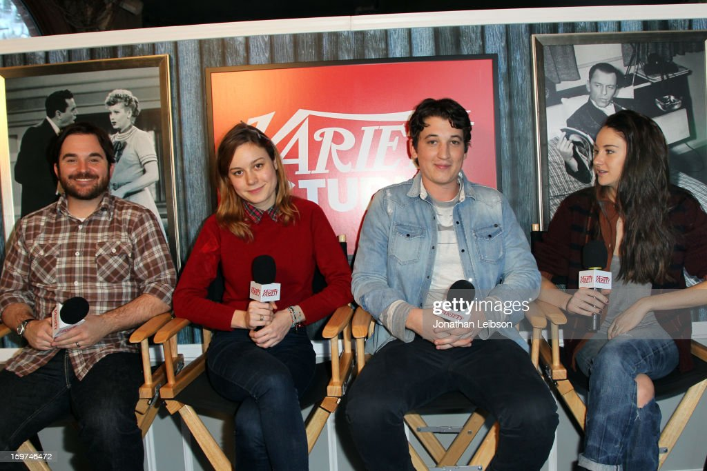 Director James Ponsoldt and actors Brie Larson, Miles Teller and Shailene Woodley attend Day 1 of the Variety Studio at 2013 Sundance Film Festival on January 19, 2013 in Park City, Utah.