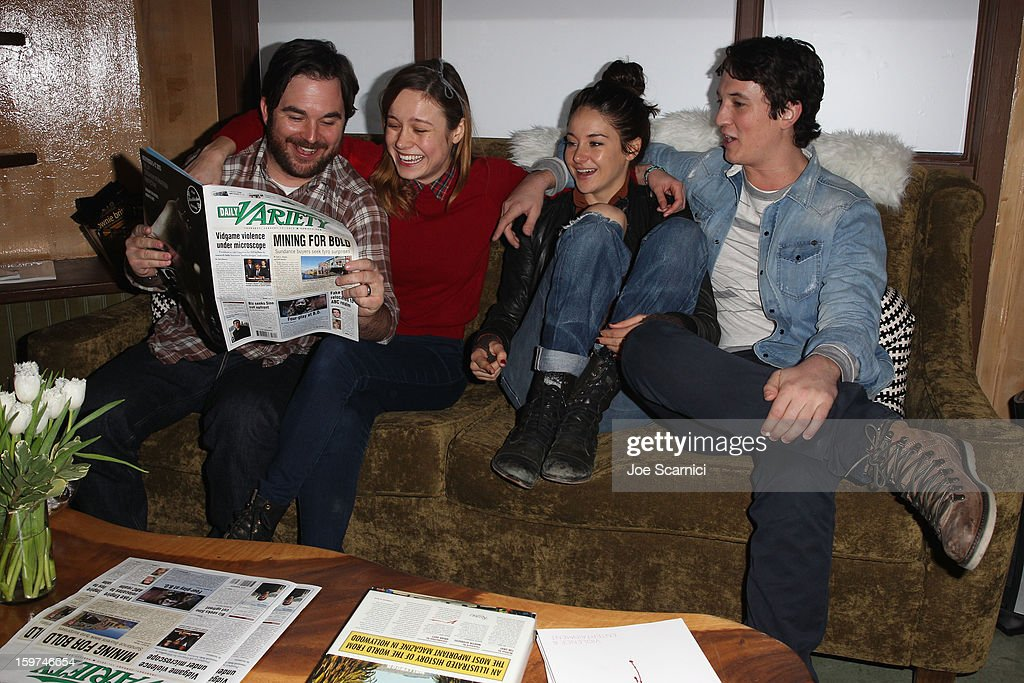 Director James Ponsoldt and actors Brie Larson, Shailene Woodley and Miles Teller attend Day 1 of the Variety Studio at 2013 Sundance Film Festival on January 19, 2013 in Park City, Utah.