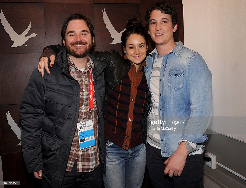 Director James Ponsoldt, <a gi-track='captionPersonalityLinkClicked' href=/galleries/search?phrase=Shailene+Woodley&family=editorial&specificpeople=676833 ng-click='$event.stopPropagation()'>Shailene Woodley</a> and <a gi-track='captionPersonalityLinkClicked' href=/galleries/search?phrase=Miles+Teller&family=editorial&specificpeople=6471673 ng-click='$event.stopPropagation()'>Miles Teller</a> at the Grey Goose Blue Door on January 19, 2013 in Park City, Utah.