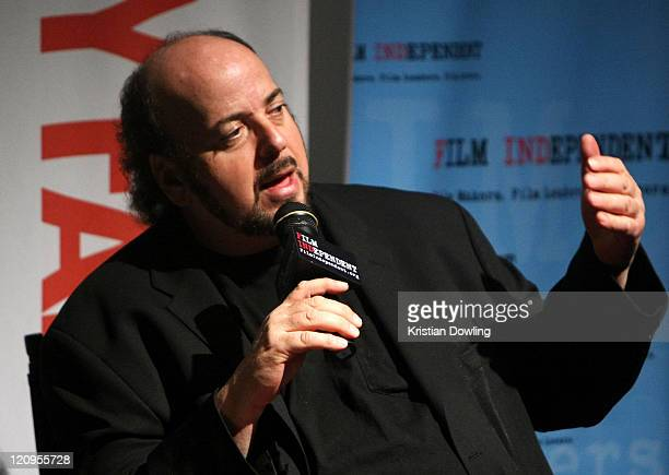 Director James Toback speaks during a QA following Film Independent's preview screening of 'Tyson' at The Landmark Theatre on April 15 2009 in Los...