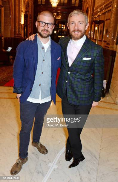 Director Jamie Lloyd and cast member Martin Freeman attend an after party celebrating the Gala Night performance of 'Richard III' playing at the...