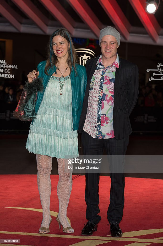 Director Jan Kounen (R) and his wife attend the 'Waltz With Monica' Premiere At 13th Marrakech International Film Festival on December 4, 2013 in Marrakech, Morocco.
