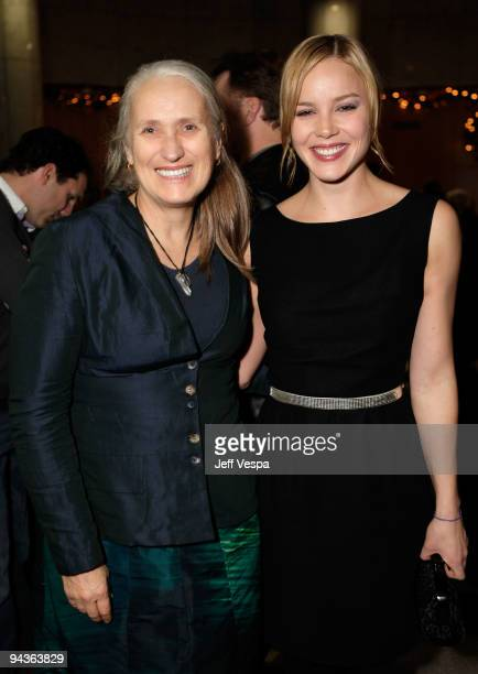 Director Jane Campion and actress Abbie Cornish attends a special Los Angeles screening of 'Bright Star' on December 12 2009 in Beverly Hills...