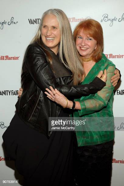 Director Jane Campion and producer Jan Chapman attend the Premiere of 'Bright Star' Presented by Vanity Fair Apparition at Paris Theatre on September...