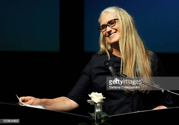 Director Jane Campion attends La Milanesiana held at Teatro Dal Verme on July 10 2010 in Milan Italy