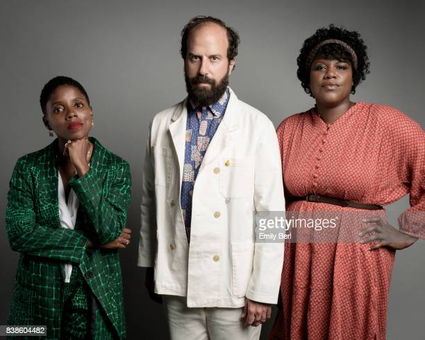 Director Janicza Bravo actor Brett Gelman and Joi McMillon are photographed at the Sundance NEXT FEST at The Theatre At The Ace Hotel on August 11...