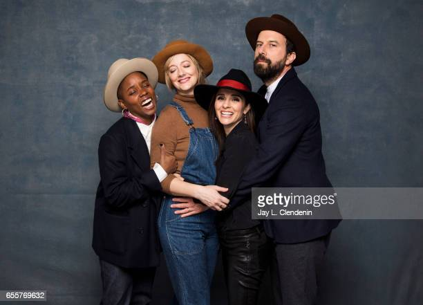 Director Janicza Bravo actress Judy Greer actress Shiri Appleby actor Brett Gelman from the film Lemon are photographed at the 2017 Sundance Film...