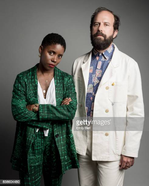Director Janicza Bravo and actor Brett Gelman are photographed at the Sundance NEXT FEST at The Theatre At The Ace Hotel on August 11 2017 in Los...