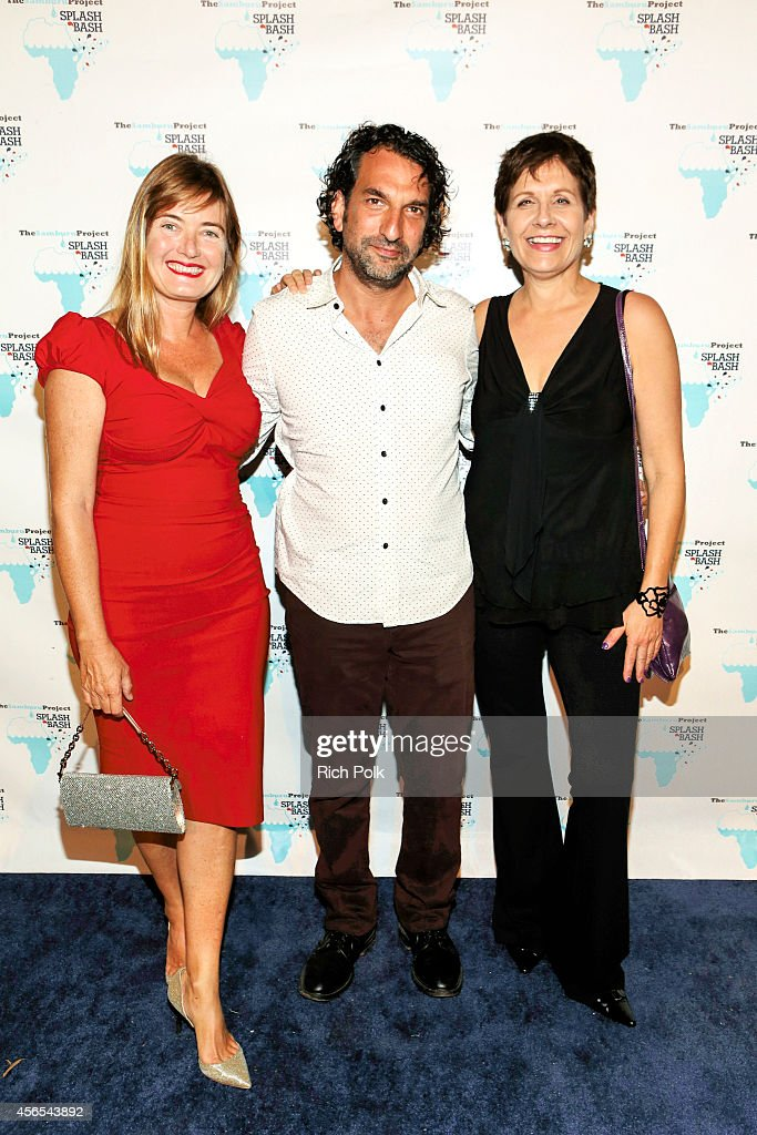 Director Jann Turner Media Producer David Jammy and Lionsgates Marcy Kaplan arrive at the Samburu Splash Bash Event on September 27 2014 in Santa...