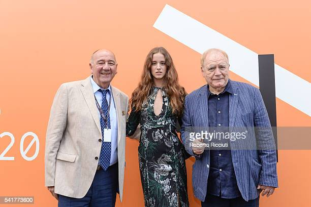 Director Janos Edelenyi actors Coco Konig and Brian Cox attend the European Premiere of 'The Carer' at the 70th Edinburgh International Film Festival...
