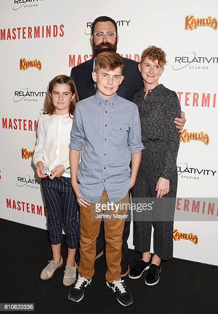 Director Jared Hess and family attend the premiere of Relativity Media's 'Masterminds' held at TCL Chinese Theatre on September 26 2016 in Hollywood...