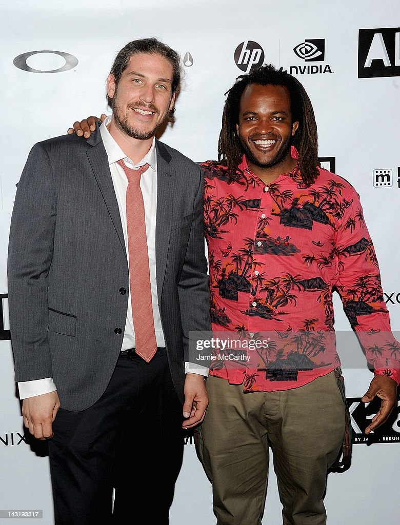 Director Jason Bergh and <a gi-track='captionPersonalityLinkClicked' href=/galleries/search?phrase=Sal+Masekela&family=editorial&specificpeople=572654 ng-click='$event.stopPropagation()'>Sal Masekela</a> attend After Party For Jason Bergh's New Film Alekesam at Tribeca Grand Hotel on April 20, 2012 in New York City.
