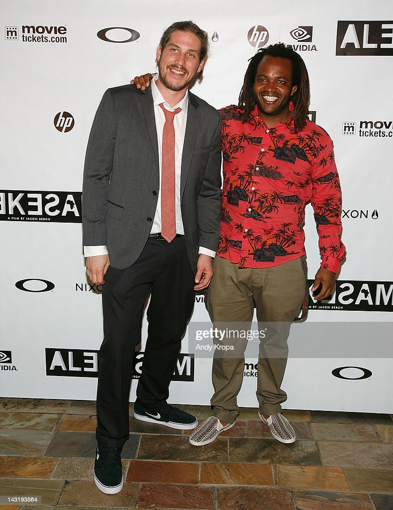 Director Jason Bergh and <a gi-track='captionPersonalityLinkClicked' href=/galleries/search?phrase=Sal+Masekela&family=editorial&specificpeople=572654 ng-click='$event.stopPropagation()'>Sal Masekela</a> attend the 'Alekesam' premiere at the Tribeca Grand Hotel on April 20, 2012 in New York City.