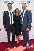 Director Jason Grant Smith Katie Couric and John Molner attend the Tribeca Talks After The Movie 'I Voted'2016 Tribeca Film Festival at SVA Theatre...