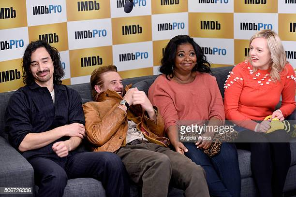 Director Jason Lew and actors Boyd Holbrook Octavia Spencer and Elisabeth Moss in The IMDb Studio In Park City Utah Day Four on January 25 2016 in...