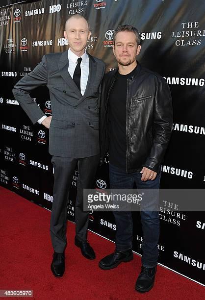 Director Jason Mann and actor Matt Damon attend the Project Greenlight Season 4 Winning Film premiere 'The Leisure Class' presented by Matt Damon Ben...