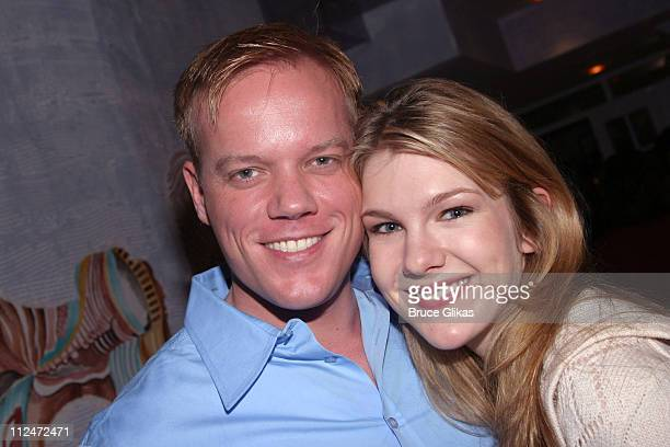 Director Jason Moore and Lily Rabe during Meet the Cast of Broadway's Upcoming 'Steel Magnolias' February 15 2005 at Trattoria Dopo Teatro in New...