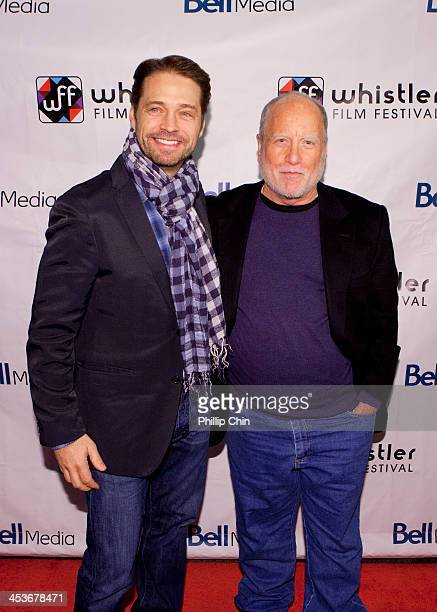 Director Jason Priestley and actor Richard Dreyfuss arrive at the screening of 'Cas Dylan' during the 13th Annual Whistler Film Festival on December...