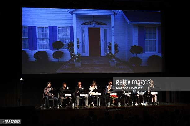 Director Jason Reitman and actors Phil LaMarr Dean Norris Rosemarie DeWitt Adam Sandler Kaitlyn Dever Travis Trope and Olivia Crocicchia participate...