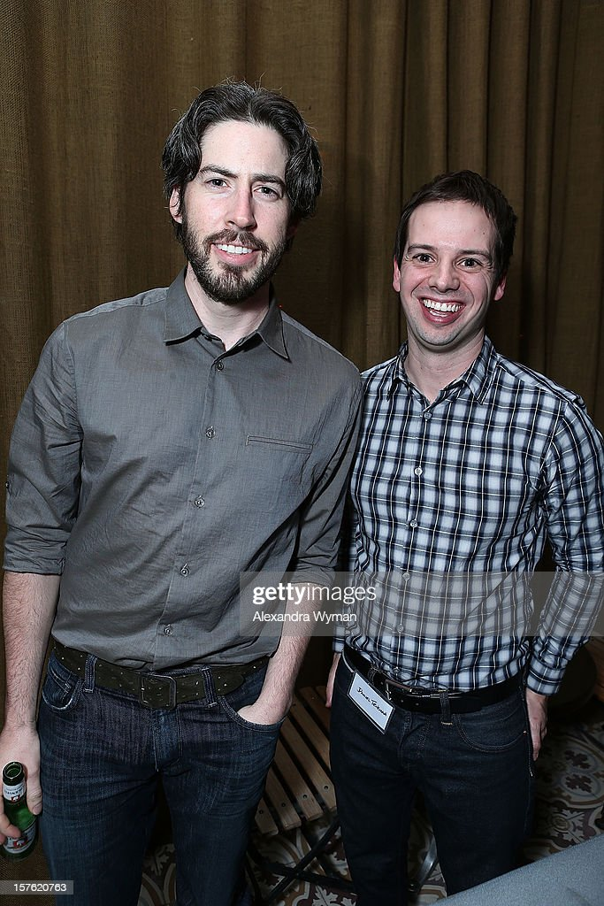 Director <a gi-track='captionPersonalityLinkClicked' href=/galleries/search?phrase=Jason+Reitman&family=editorial&specificpeople=627880 ng-click='$event.stopPropagation()'>Jason Reitman</a> and Daniel Tenkman at The Sundance Film Festival Filmmaker Orientation reception held at The Palihouse Holloway on December 4, 2012 in West Hollywood, California.