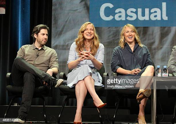 Director Jason Reitman Executive Producer Helen Estabrook and Executive Producer Liz Tigelaar speak onstage during the 'Casual' panel at the Hulu...