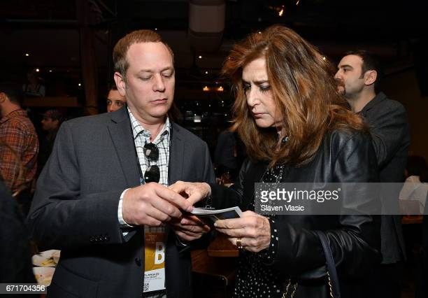 Director Jason Sklaver and Executive Vice President of Tribeca Enterprises Paula Weinstein attend Director's Brunch at 2017 Tribeca Film Festival at...