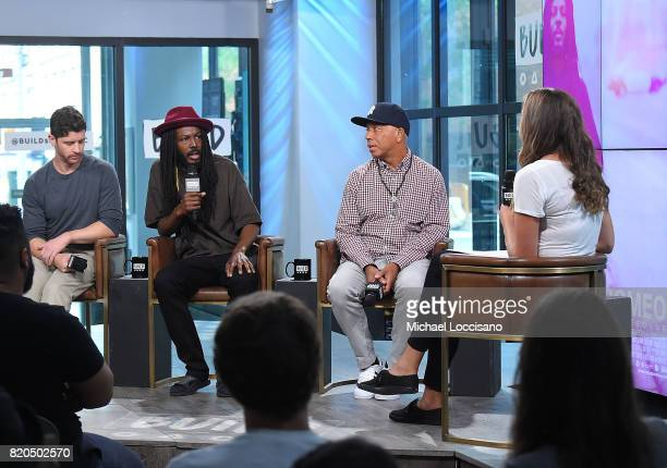 Director Jason Zeldes film subject Donte Clark and producer Russell Simmons visit the Build Series to discuss the movie 'Romeo Is Bleeding' at Build...
