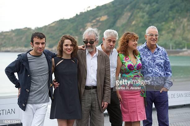 Director Javier Rebollo actress Valeria Alonso Spanish actor Jose Sacristan producers Jose Nolla Lola Mayo and Lluis Minarro attend the 'El Muerto Y...