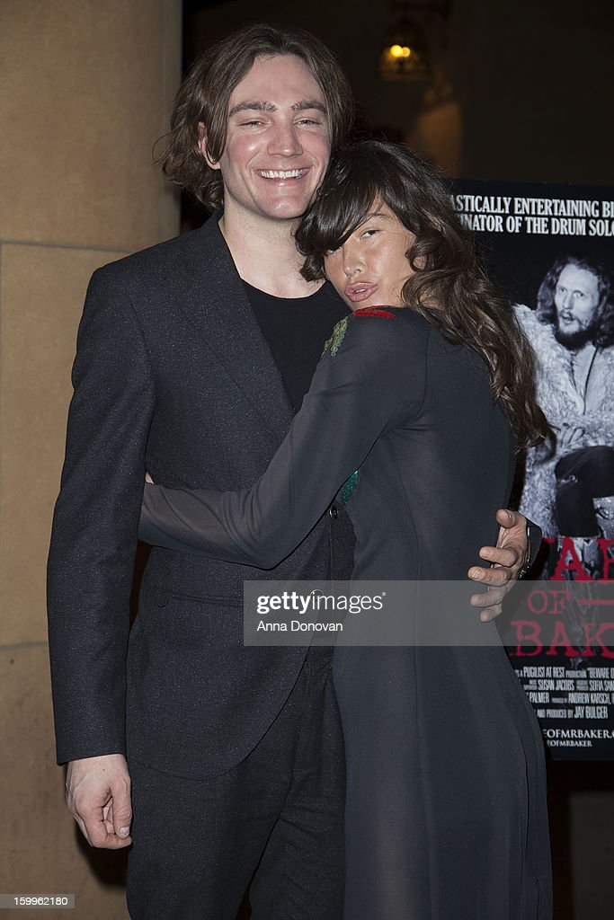 Director Jay Bulger and actress Paz de la Huerta attend a special screening of 'Beware Of Mr Baker' at the Egyptian Theatre on January 23 2013 in...