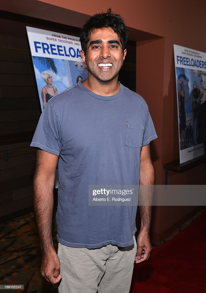 Director Jay Chandrasekhar arrives to the premiere of Salient Media's 'Freeloaders' at Sundance Cinema on January 7, 2013 in Los Angeles, California.