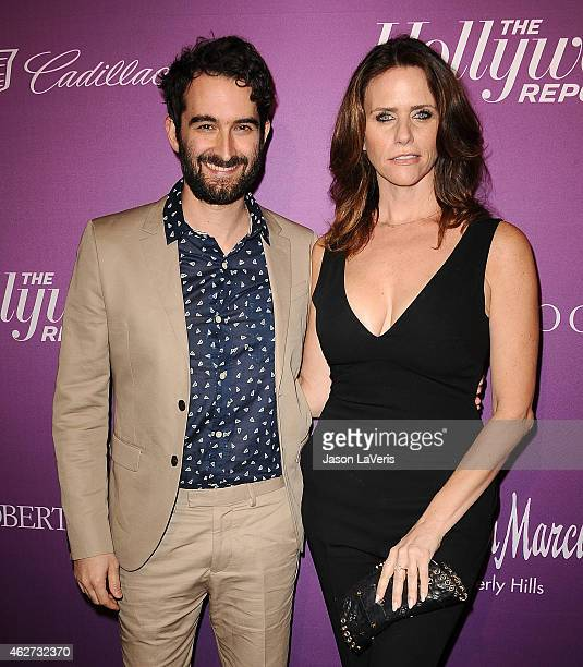 Director Jay Duplass and actress Amy Landecker attend the Hollywood Reporter's 3rd annual Academy Awards nominees night at Spago on February 2 2015...