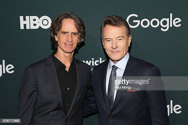Director Jay Roach and actor Bryan Cranston attend the Google/HBO celebration of 'All The Way' during White House Correspondents' weekend at the...