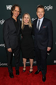 Director Jay Roach HBO Films Vice President Tara Grace and actor Bryan Cranston attend the Google/HBO celebration of 'All The Way' during White House...