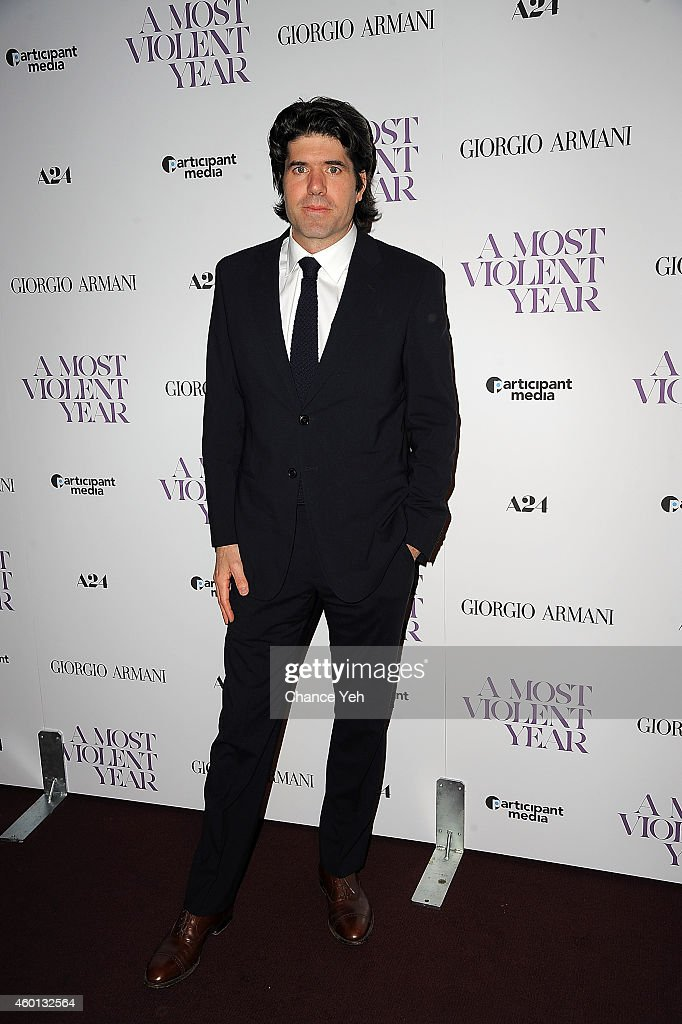 Director JC Chandor attends 'A Most Violent Year' New York Premiere at Florence Gould Hall on December 7, 2014 in New York City.