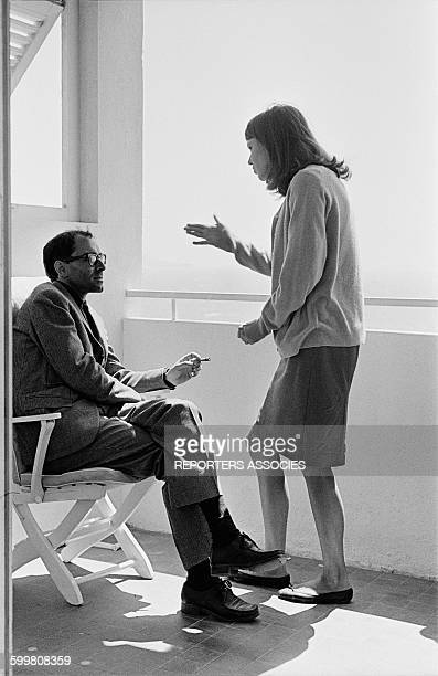 Director JeanLuc Godard And Actress Anna Karina On The Set Of The Movie 'Pierrot Le Fou' in Hyères France in June 1965