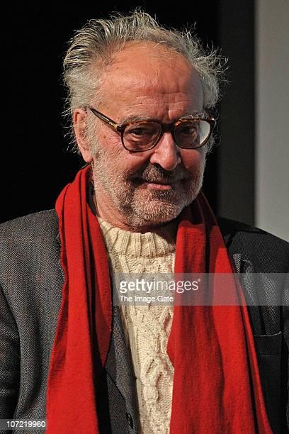Director JeanLuc Godard receives the Swiss Federal Design Award Grand Prix at XTra on November 30 2010 in Zurich Switzerland JeanLuc Godard who will...