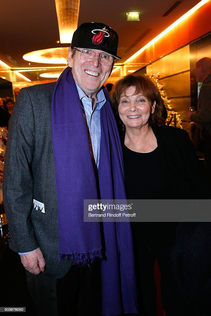Director Jean-Marie Poire and Director of the movie Diane Kurys attend the 'Arrete Ton Cinema !' Paris Premiere at Publicis Champs Elysees on January 6, 2016 in Paris, France.