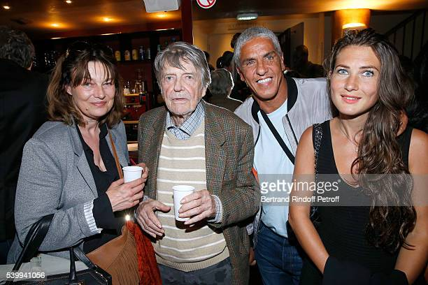 Director JeanPierre Mocky with his wife Monique Baudin and Actor Samy Naceri and guest attend the Public performance of the Comedians School...