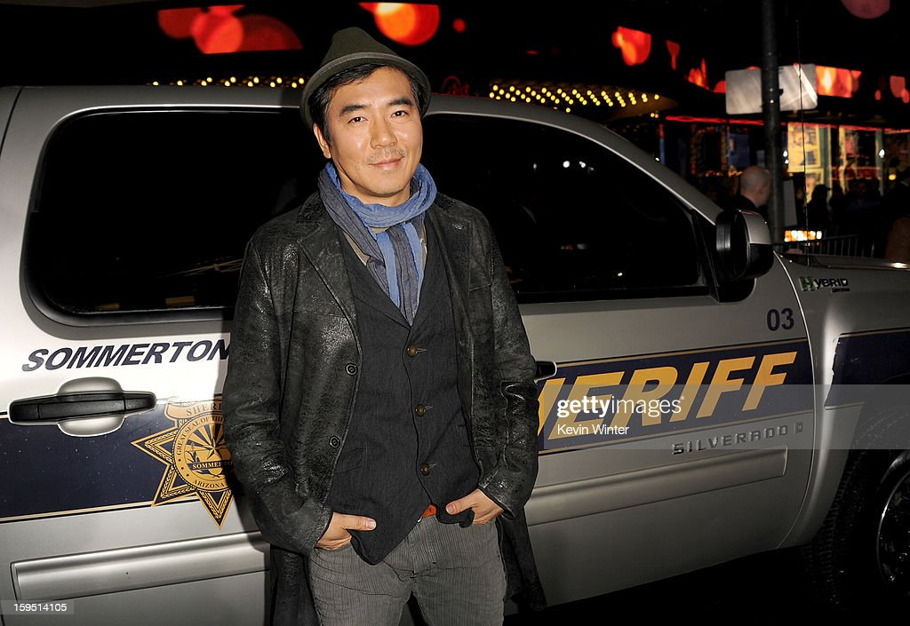 Director Jee-woon Kim arrives at the premiere of Lionsgate Films' 'The Last Stand' at Grauman's Chinese Theatre on January 14, 2013 in Hollywood, California.