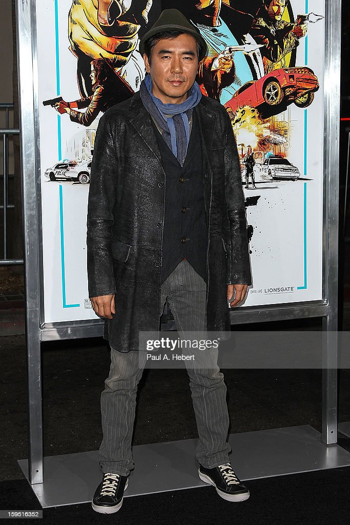 Director Jee-woon Kim arrives at the premiere of Lionsgate Films' 'The Last Stand' held at Grauman's Chinese Theatre on January 14, 2013 in Hollywood, California.