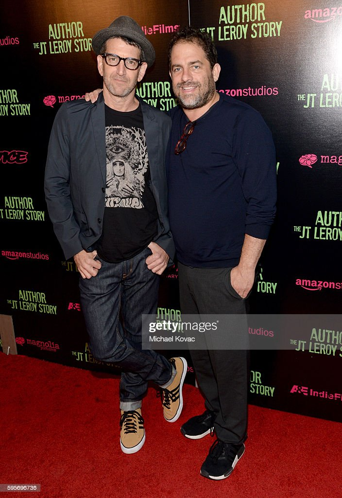 Director Jeff Feuerzeig and producer Brett Ratner attend the Los Angeles Premiere of 'Author The JT Leroy Story' at NeueHouse Hollywood on August 25...
