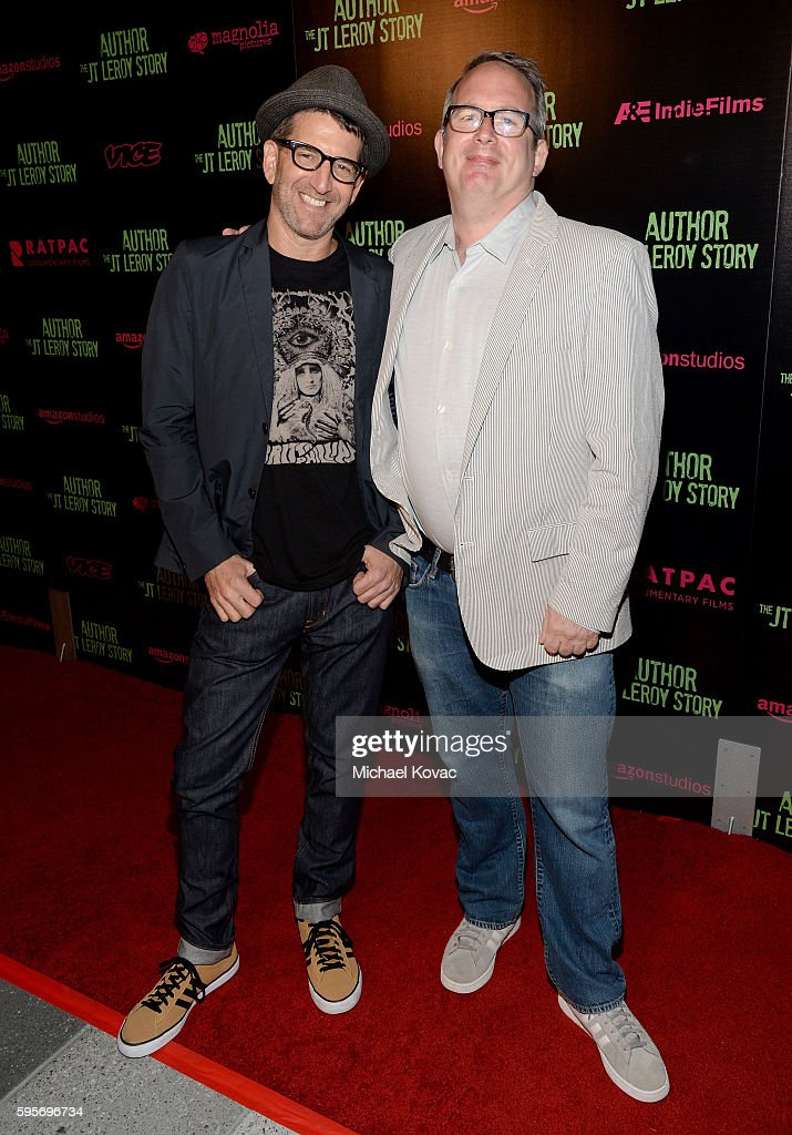 Director Jeff Feuerzeig and producer Ted Hope attend the Los Angeles Premiere of 'Author The JT Leroy Story' at NeueHouse Hollywood on August 25 2016...