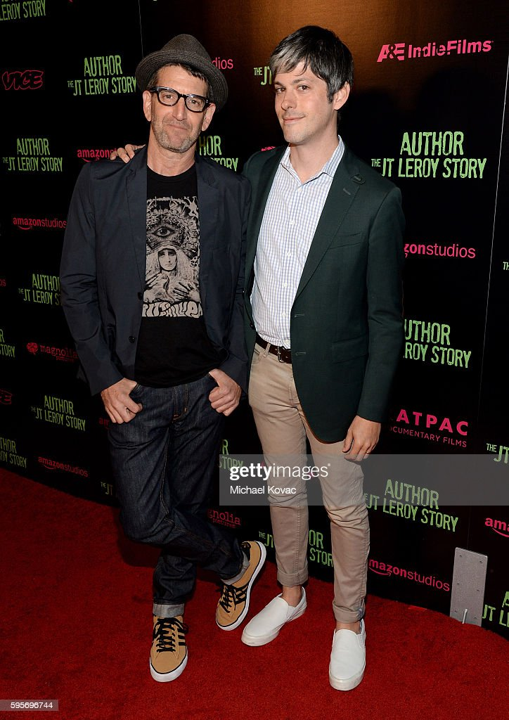 Director Jeff Feuerzeig and Vice Films Danny Gabai attend the Los Angeles Premiere of 'Author The JT Leroy Story' at NeueHouse Hollywood on August 25...