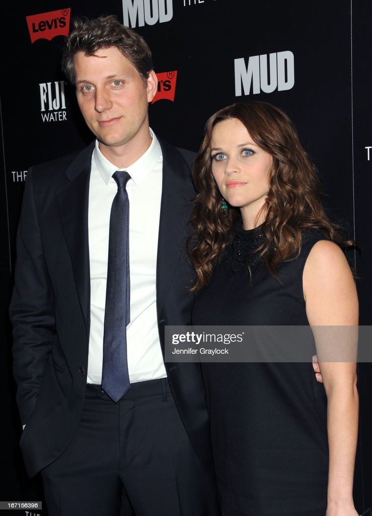 Director Jeff Nichols, Actress Reese Witherspoon wearing YSL attend The Cinema Society Screening Of 'Mud' hosted by Fiji Water and Levis held at The Museum of Modern Art on April 21, 2013 in New York City.