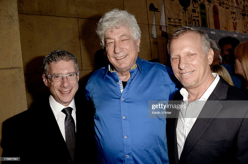 Director Jeffrey Friedman, executive producer Avi Lerner, and director <a gi-track='captionPersonalityLinkClicked' href=/galleries/search?phrase=Rob+Epstein&family=editorial&specificpeople=2669345 ng-click='$event.stopPropagation()'>Rob Epstein</a> arrive at the premiere of RADiUS-TWC's 'Lovelace' at the Egyptian Theatre on August 5, 2013 in Hollywood, California.