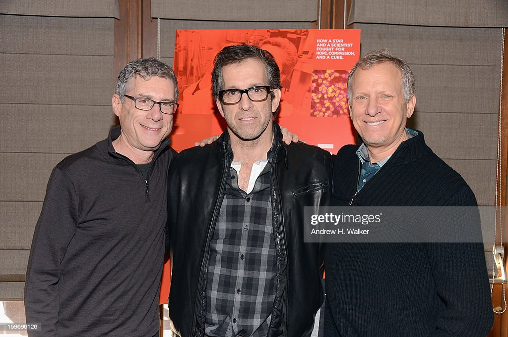 Director Jeffrey Friedman, executive producer Kenneth Cole and director <a gi-track='captionPersonalityLinkClicked' href=/galleries/search?phrase=Rob+Epstein&family=editorial&specificpeople=2669345 ng-click='$event.stopPropagation()'>Rob Epstein</a> attend the 'Fall To Grace' and 'The Battle Of AMFAR' Brunch hosted by HBO on January 18, 2013 in Park City, Utah.