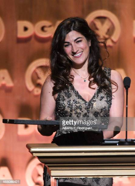 "Director Jehane Noujaim accepts the Outstanding Directorial Achievement in Documentary for ""The Square"" onstage at the 66th Annual Directors Guild Of..."